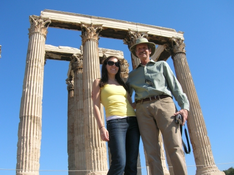 Dad and I in Athens