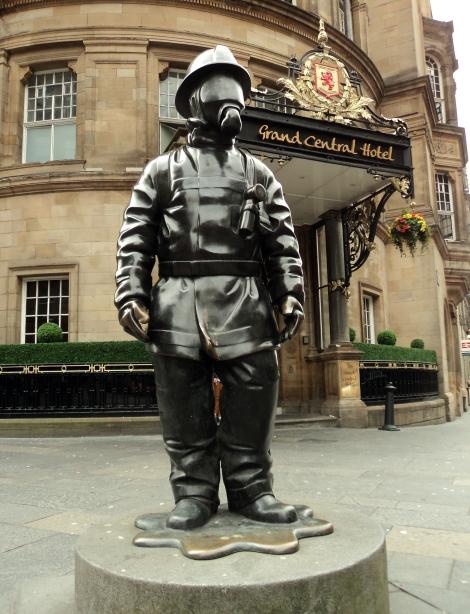Glasgow Fireman Statue
