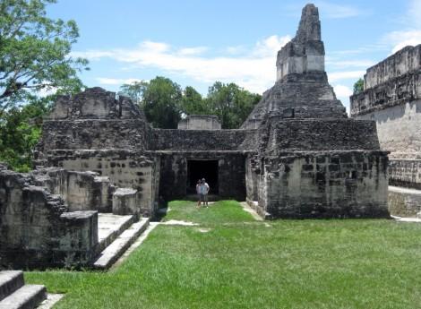 Tikal temple entrance, Guatemala