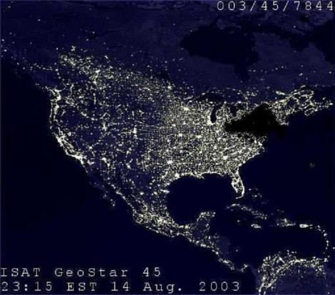 Northeast 2003 Blackout Satellite image