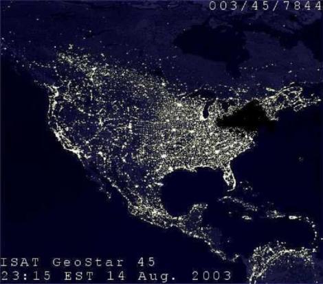 Northeast 2003 Blackout Satellite image