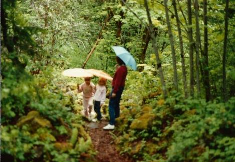Oregon hike in the rain