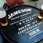 Tiny table at a Dublin bar
