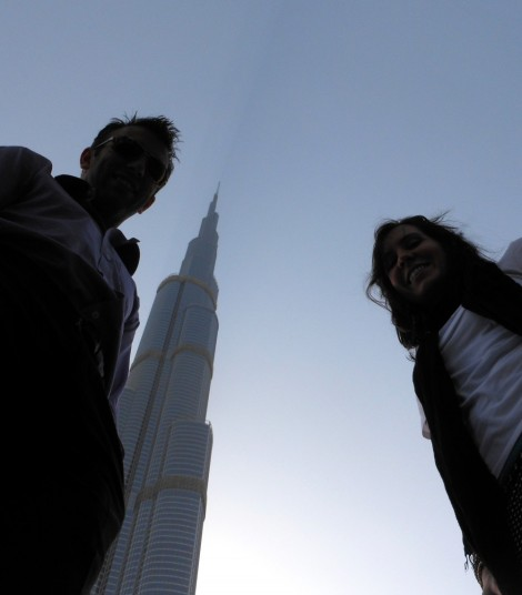 Burj Khalifa from the ground.