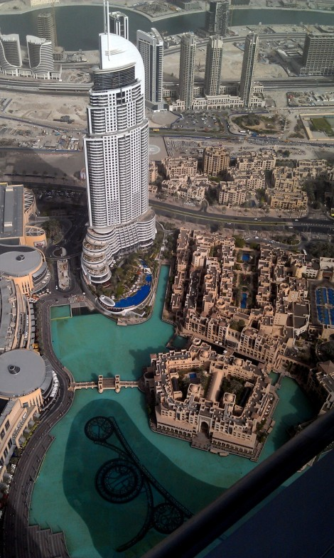 Burj Khalifa view to Dubai Fountain