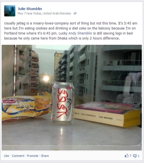 Facebook screenshot from Dubai