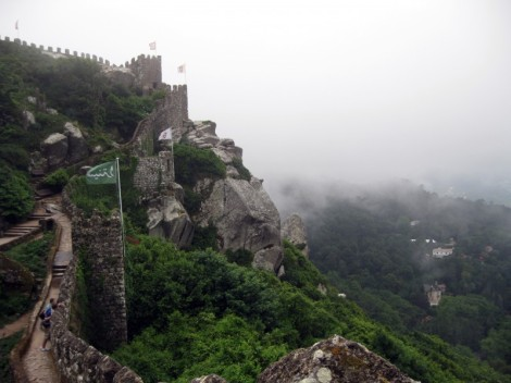 Moorish Castle in Sintra, Portugal with no crowds