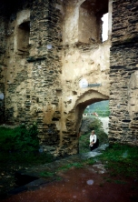 An arched doorway at Bug Rheinfels Castle in Sankt Goar, Germany