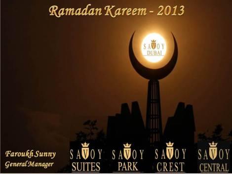 Ramadan Kareem from Dubai Savoy Suites