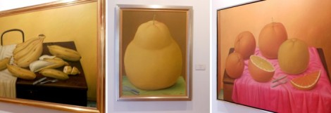Art gallery of chubby things at the Museo Botero in Bogota, Colombia.