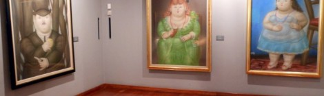 Art gallery at the Museo Botero in Bogota, Colombia.