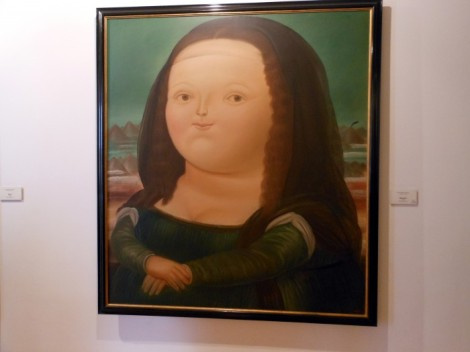 Mona Lisa in the art gallery at the Museo Botero in Bogota, Colombia.