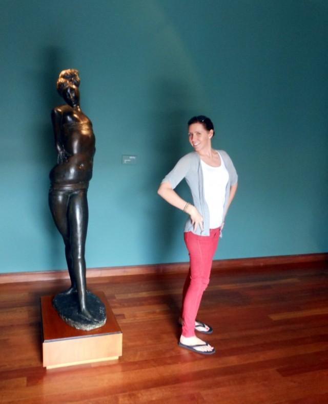 Emilio Greco sculpture at the Museo Botero in Bogota, Colombia.