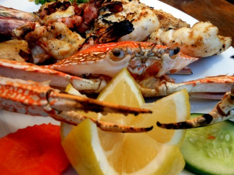 Seafood Platter at Bait Al Wakeel along the Dubai Creek.