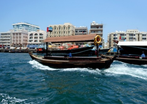 Boats on the Dubai Creek.