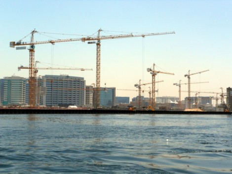 Cranes on Dubai Creek