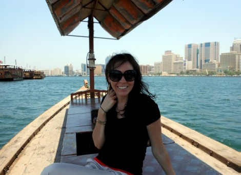 On the Dubai Creek in the breeze.