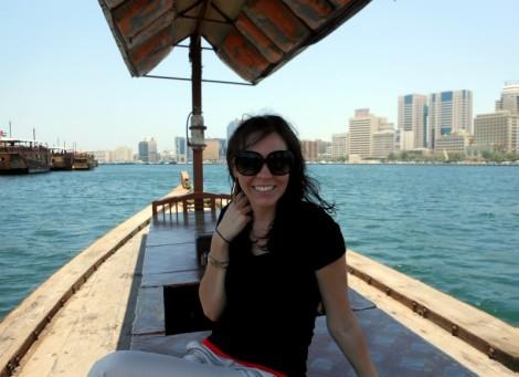 On the Dubai Creek in the breeze.