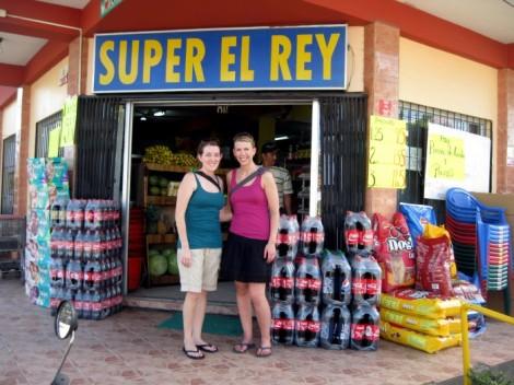 Supermarket in La Ceiba, Honduras.