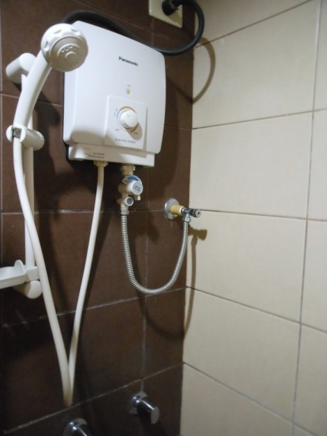 Hotel shower in Dumaguete, Philippines