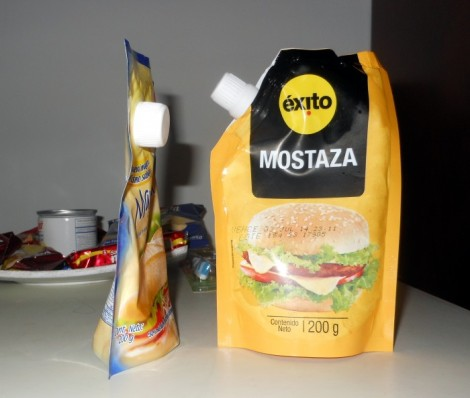 Mustard and mayonnaise in Cartagena, Colombia.