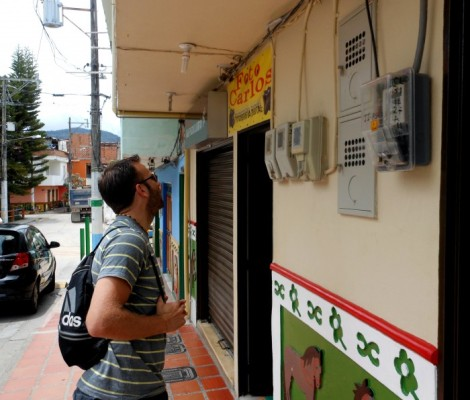 Electrical stuff in Guatape, Colombia.