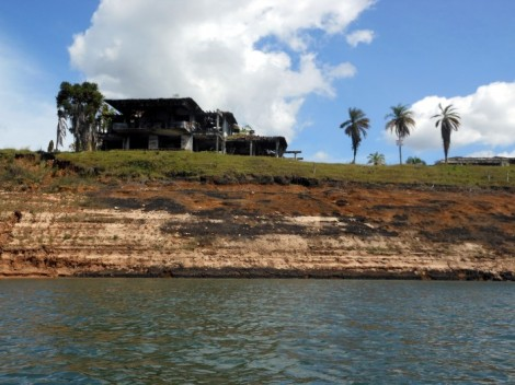 Pablo Escobar's former lake house near Guatape, Colombia.