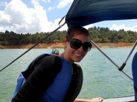 On the lake in Guatape, Colombia.