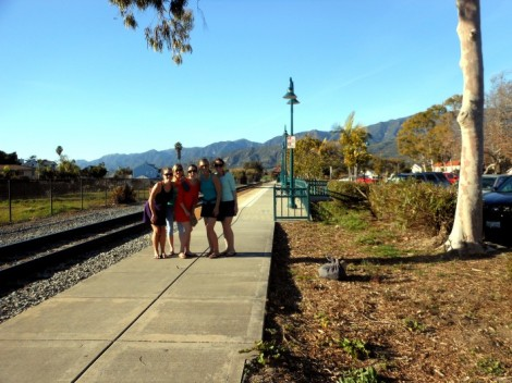 Carpinteria railroad tracks near the beach.