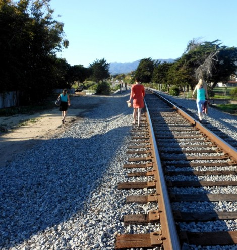 Carpinteria, California along the railroad tracks.