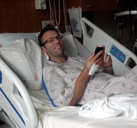 Andy at OHSU after surgery.
