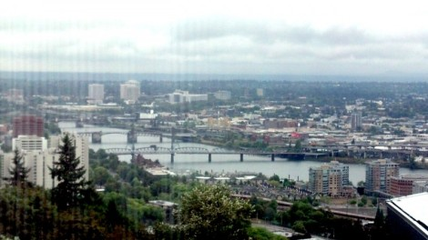 View from OHSU.