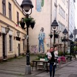 2017 - Serbia - Around Town - Julie Holding Girls