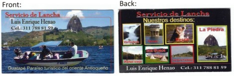 Guatape Boat Tour Information Card
