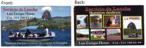 Guatape Boat Tour Information Card