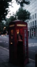 Sophomore - Europe - Jenn in London Phone Booth
