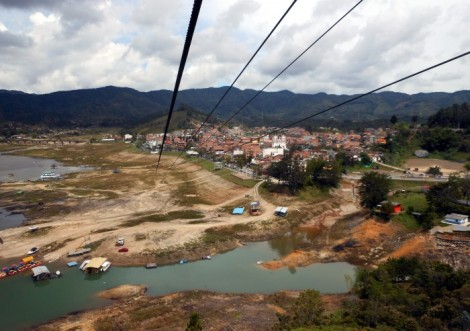 The Guatape, Colombia zip line.