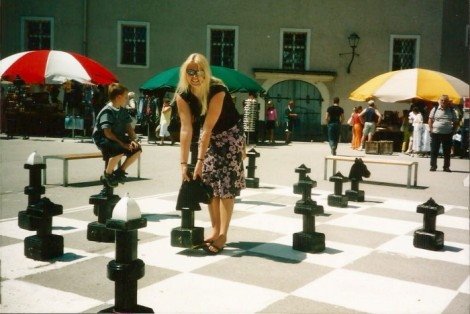 Giant chess set in Salzburg, Austria.