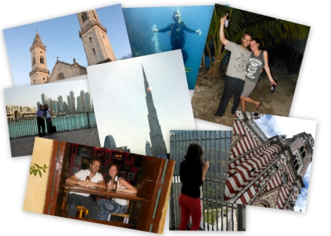 Travel photo collage 2013 to Germany, Colombia, Honduras, Dubai