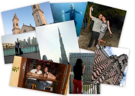 Travel photo collage 2013 to Germany, Colombia, Honduras, Dubai