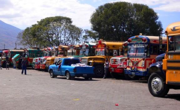 Antigua, Guatemala bus depot