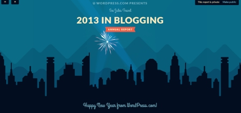 Wordpress Annual Blog Report